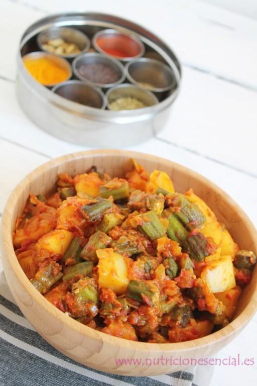 bhindi con spice box