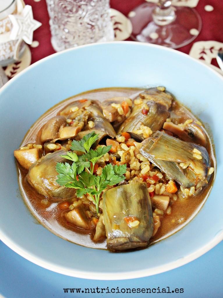 arroz con alcachofas2