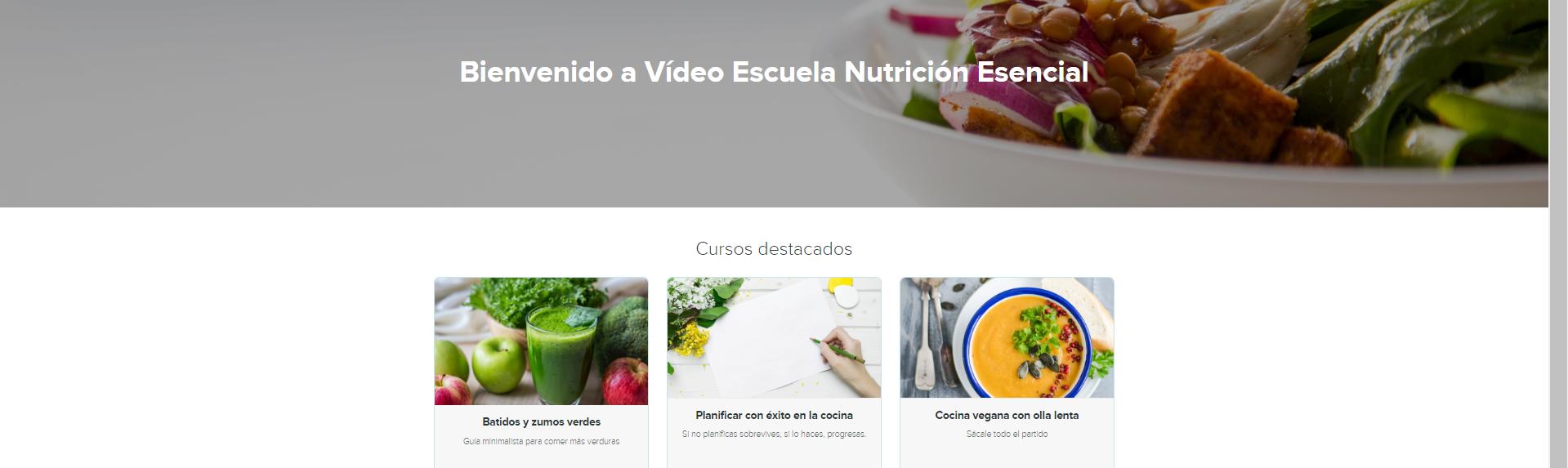 Vídeo-Escuela de cocina online