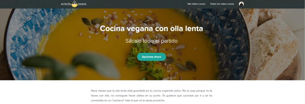 Cocina vegana con olla lenta