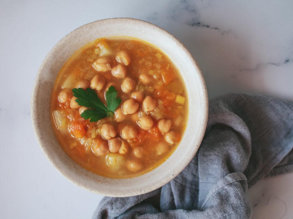Sopa básica de puerro y calabaza