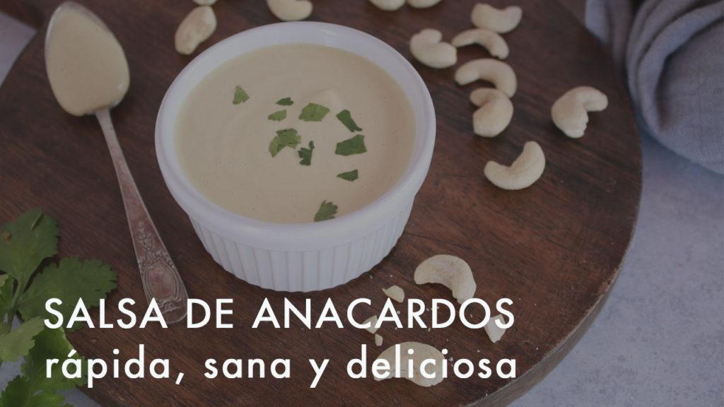 Enlace a la vídeo receta de salsa de anacardos  en youtube